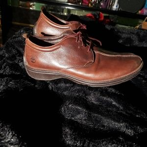 Timberland Shoes - Timberland Brown Men's Leather Shoes Size 8.5M